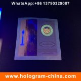 Etiqueta de carimbo quente do cigarro do holograma feito sob encomenda