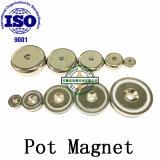 Directa de Fábrica A25 Pot ganchos magnéticos imanes de NdFeB con broca de avellanar