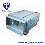 A freqüência ultraelevada do VHF da G/M CDMA 3G 4G WiFi do telefone do poder superior 8bands personaliza o jammer do sinal da freqüência