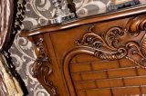 Cheminée électrique d'éclairages LED de chaufferette de meubles en bois antiques de chambre à coucher