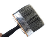 Cepillo de pintura plástico de la maneta de la alta calidad, cepillo de pintura puro de la cerda