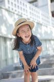 소녀를 위한 100%년 면 우연한 짧은 소매 여름 복장