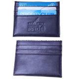 RFID que obstrui o suporte de cartão do crédito do grampo do dinheiro da luva da caixa da carteira