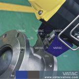 Pneumatic RF de acero fundido el segmento de brida Válvula de bola