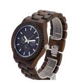 カスタムロゴの骨董品の固体木の腕時計、木製の水晶腕時計
