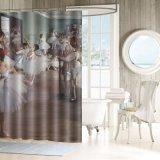 Retro Bailarinas Impresso a cortina do chuveiro para venda por grosso