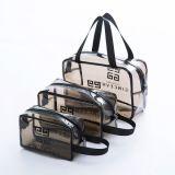 3 يحمل حزمات حقيبة مستحضرات تجميل كيس سحّاب فينيل سفر حقيبة