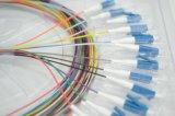 Однорежимный Sc, FC, St, LC, Mu, E2000, кабели заплаты стекловолокна MPO