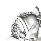 卸し売りクリスマスのギフトのカスタム銀製の金属の鐘メダル