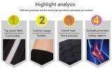 Protección de la funda de la pierna del balompié de la paréntesis del soporte de la rodilla de las rodilleras del baloncesto del protector de la seguridad de la rodillera de los deportes