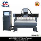 Madeira Cabeça várias máquinas de corte CNC Rotativo