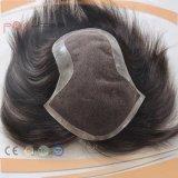 Toupee brasilianisches Haar-der vollen Spitze-Männer (PPG-l-0938)