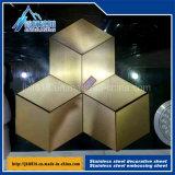 Plaque décorative hexagonale d'acier inoxydable de parties de fleur d'acier inoxydable