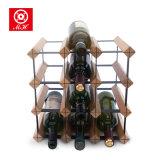 12-48 da cremalheira de madeira clássica do vinho do frasco cremalheira de indicador cúbica do vinho
