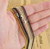 Collier fabriqué à la main Mjcn030 de chaîne de bille d'acier inoxydable en métal de l'or 18K