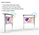 Écran LCD extérieur de tailles importantes de stand d'étage de 82 pouces avec la carte SD de HDMI USB (MW-821OW)
