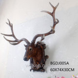 普及したベストセラーの樹脂のシカヘッド壁に取り付けられた人工的な動物のシカヘッド