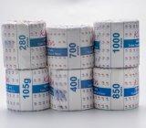 Tissu 100% de toilette blanc de matériaux de Vierge avec le papier d'emballage