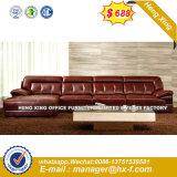 現代デザイン居間の革コーナーのレセプションのソファー(HX-SN8074)
