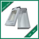 Boîte-cadeau 2PCS rigide blanche avec le guichet de PVC