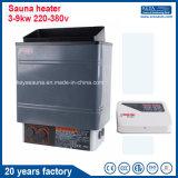 Estufa eléctrica de /Sauna del calentador de la sauna en sitio de la sauna