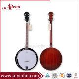Cabeça de remo de contraplacado de mogno 4 Strings com encadernação Banjo (ABO244G)