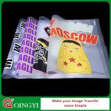 Etiqueta personalizada da transferência térmica da forma para o vestuário