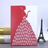 La mejor calidad Ahuecó-hacia fuera la impresión de la tarjeta de la invitación de las tarjetas de felicitación