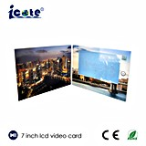 ¡Venta caliente! Folleto video del LCD de 7 pulgadas en la impresión, tarjeta de felicitación video de Digitaces/tarjeta del regalo