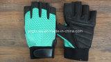 Половина палец Glove-Work Glove-Protective Glove-Safety Glove-Synthetic кожаные перчатки