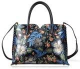 PU flor de piel bolsos de señora señoras bolso Flor moda bolsas OEM (Biblioteca Digital Mundial01487)