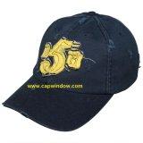Painel 6 estruturado Bordados Baseball Hat com 100% de algodão (02276)