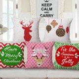 Het vrolijke Katoenen van de Polyester van de Dekking van het Hoofdkussen van het Kussen van Kerstmis van het Nieuwjaar van de Dekking van het Hoofdkussen van het Kussen van Kerstmis Digitale Afgedrukte Gelukkige Decoratieve Geval Joyxmas001 van het Hoofdkussen