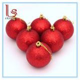 As bolas de plástico colorido artesanal grossista para decoração de árvore de Natal