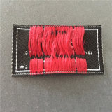 Custom de densidad de Tela de poliéster 100d ropa etiqueta tejida tejido etiquetas bandera
