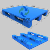 plastic Pallet van Hygeian van het Dek van 1200*1000*170mm de Op zwaar werk berekende 3 Agenten Gesloten