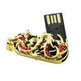 Lecteur flash USB de cristal de carte mémoire Memory Stick du dragon USB de bijou