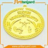 Médaille en gros en métal avec le placage à l'or