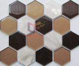 혼합 색깔 유리와 알루미늄 모자이크 타일 (CFA91)
