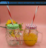transparente Form-Glasmaurer-Glas der Ananas-180ml mit Griff