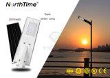 Tutti in una lampada esterna solare Integrated 6W - 120W dell'indicatore luminoso di via del LED