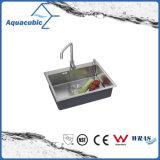 La Chine bol unique fournisseur évier de cuisine (ACS6848A1)
