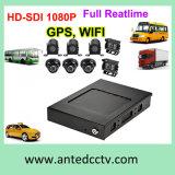 4CH 8CH Autobús escolar de disco duro grabador DVR CCTV con GPS de seguimiento 3G 4G