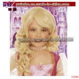 Artículos de la fiesta de Halloween Carnaval princesa reina del vestido de lujo de la peluca afro (C3045)