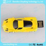 Azionamento eccellente dell'istantaneo del USB di figura dell'automobile del Ferrari del metallo giallo (ZYF1724)