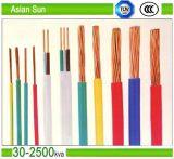 Thw 450/700V 12AWG XLPE ПВХ изоляцией электрического кабеля