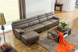 L софа формы самомоднейшая кожаный, домашняя мебель (M0415)