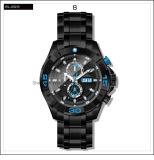 Orologio automatico delle vigilanze degli uomini di sport di alta qualità dell'acciaio inossidabile