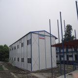 Casa prefabricada de la estructura de acero con el panel de emparedado del EPS