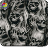Tsautop 0,5 m de largura Skull Flame Zombie Hydrographic Dipping Water Transfer Printing Film